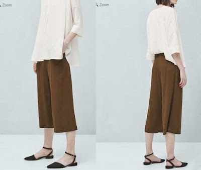 Pantalon crop palazzo para mujer de Mango