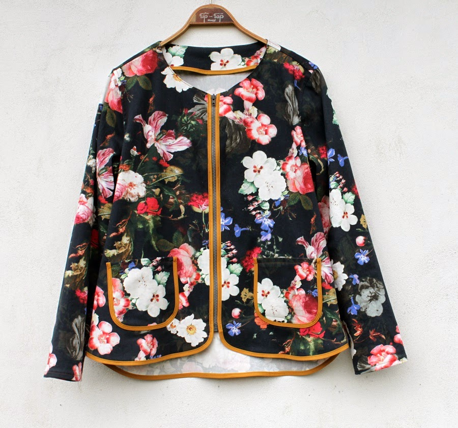 2e7c7136 This is me embracing the floral trend in my new summer jacket. A very  simple and unlined make.