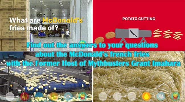 Find out the answers to your questions about the McDonald's french fries with the Former Host of Mythbusters Grant Imahara