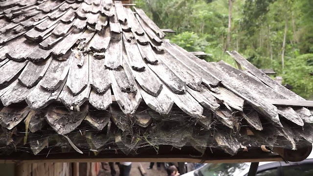 หลังคาไม้ไผ่มุงหนา