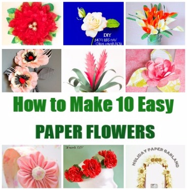 paper flowers tutorials how to make 10 tissue and crepe flowers
