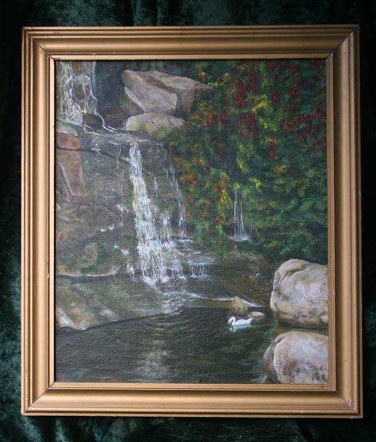 картина Виталия Бабенко: водопад