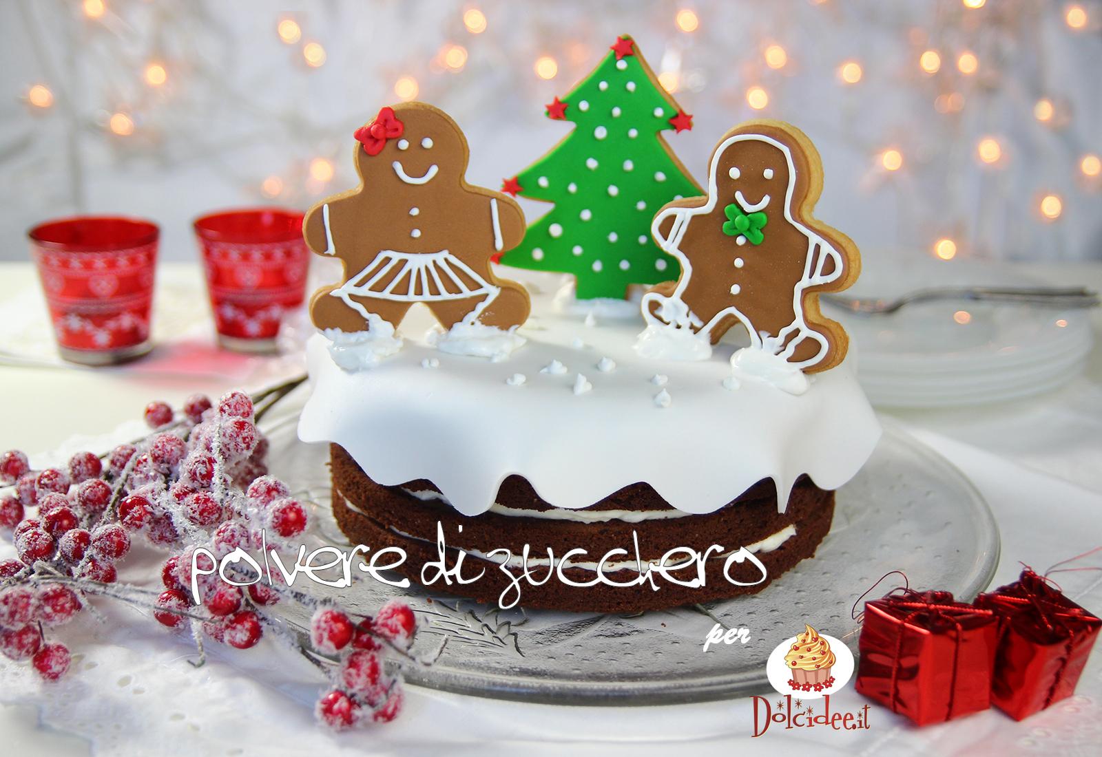 torta natale ginger bread omini pan di zenzero torta cake design pasta di zucchero ghiaccia reale