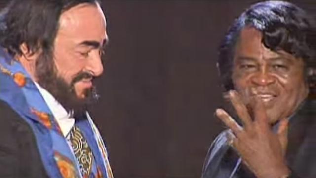 james brown, pavarotti, james brown pavarotti, it's a man's man's man's world, la chanson du dimanche, georges lang, beach party volume 2, soul, funk, it's a man's man's man's world pavarotti