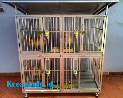 Harga Kandang Aluminium Kucing Tingkat 4 pintu Untuk Kucing