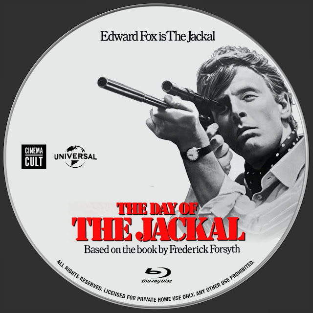 The Day Of The Jackal Bluray Label