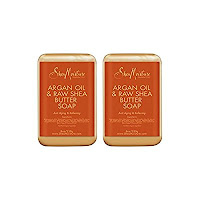 SheaMoisture Argan Oil & Raw Shea Butter Soap - 8 oz (2 Pack)