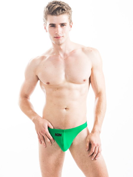 N2N Bodywear Maverick Swim Thong Cリング付きスイムTバック