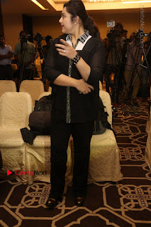 Tamil Actress Meena Latest Stills in Black Dress at TSR TV9 Awards Press Meet  0158.JPG