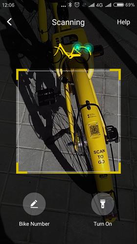 Probamos el servicio de bicis sin anclaje de Ofo