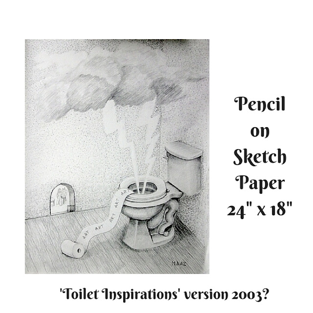 Pencil 2003 version: Toilet Inspirations by Minaz Jantz