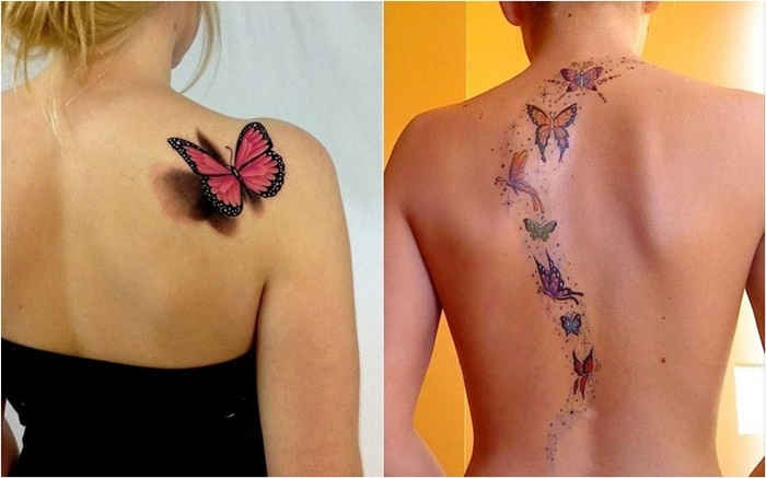 Die 15 neuesten 3D Schmetterling-Tattoo Designs