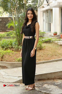 Telugu Actress Rukhsar Mir Stills in Black Long Dress at Aakatayi Movie First Look Launch  0128.JPG