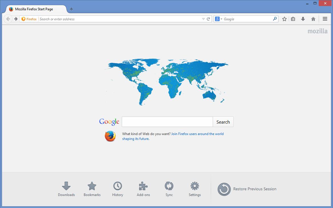 النسخة الأحدث من برنامج فايرفوكس الجديد باللغة العربية