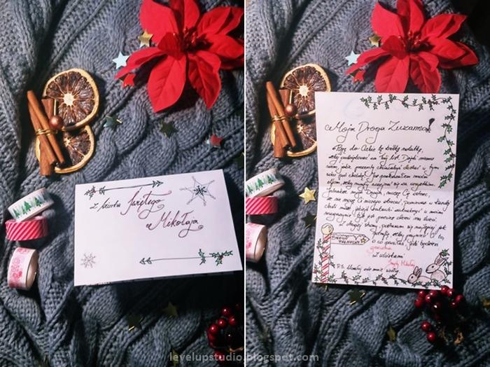 list od mikołaja diy, napisz sam list od mikołaja