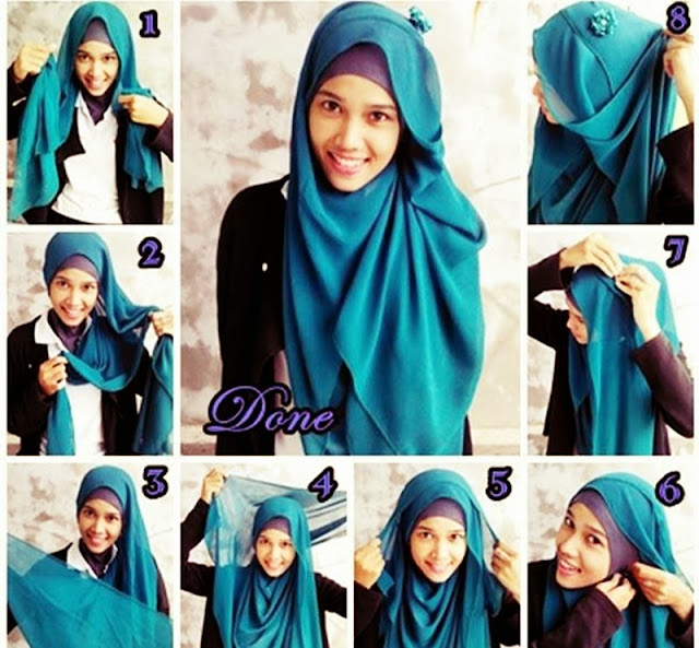 Cara Memakai Jilbab Pashmina Simple