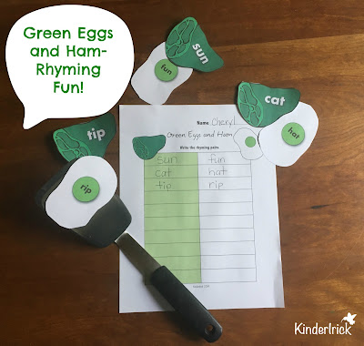 Green Eggs and Ham Rhyming Activity