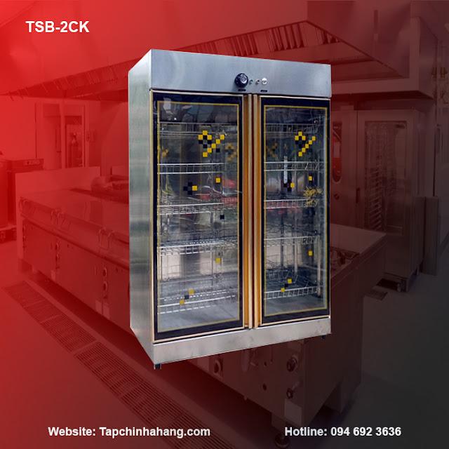Tủ sấy bát TSB-2CK 2 cánh kính
