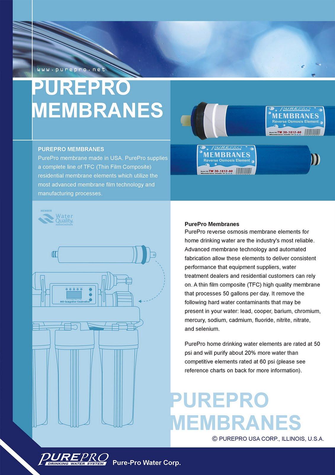 PurePro® USA Reverse Osmosis Membranes