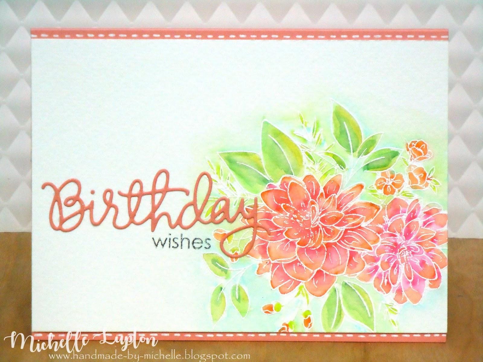 Handmade by Michelle Birthday wishes