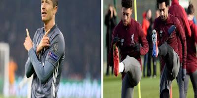 تدريبات فريق ليفربول ومحمد صلاح