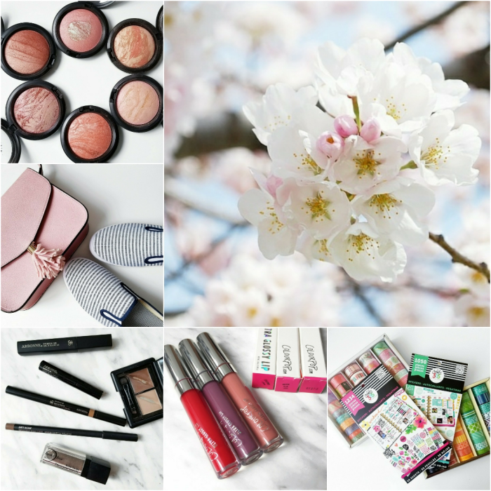 bbloggers, bbloggersca, canadian beauty bloggers, sc bloggers, southern blogger, instamonth, mac, msf, mineralize skinfinish, cherry blossoms, toronto, favorite eyebrow products, colourpop, ultra glossy lips, bestie, casino, master plan, happy planner, mambi, washi tape, stickers