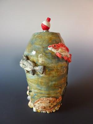 Fish Urn, Red Snapper Urn, Flounder Urn, Saltwater Urn