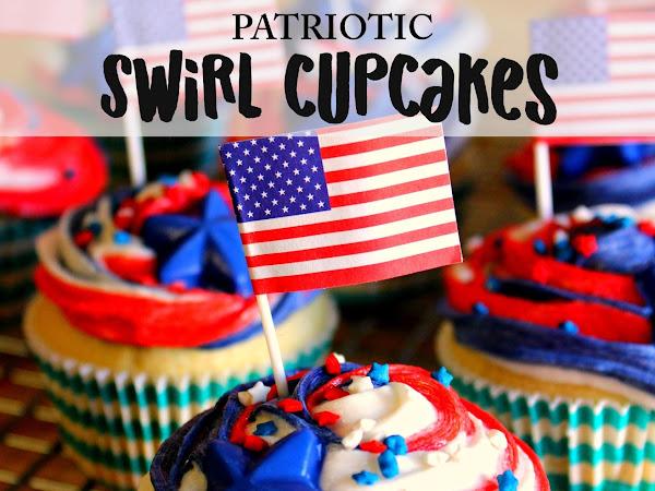 Patriotic Swirl Cupcakes