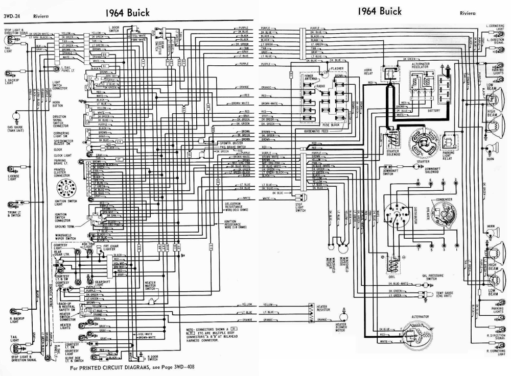 Buick Riviera 1964 Electrical Wiring Diagram | All about Wiring Diagrams