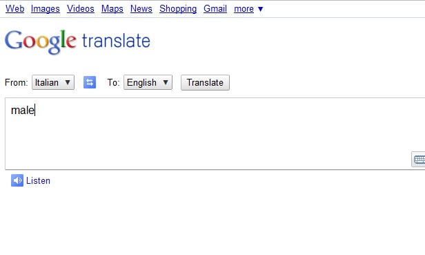Translator Italian: Google Translate English To Italian