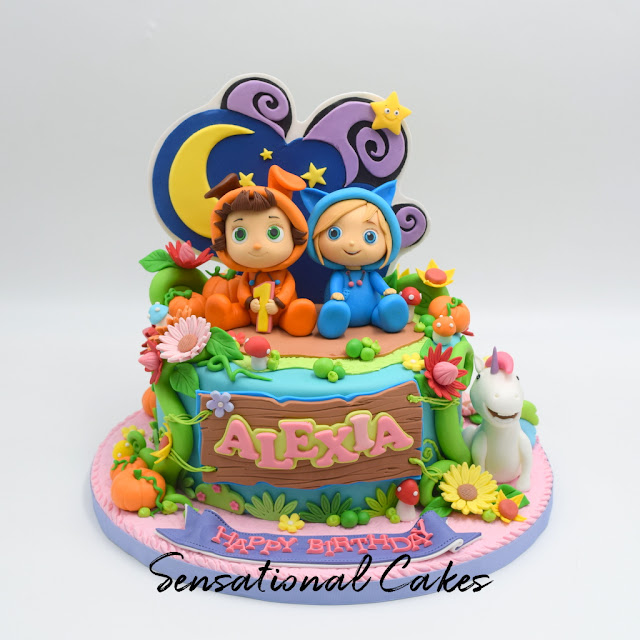 Dave Ava Beautiful Garden Theme Children 3d Customized Cake Singapore DaveAvacake