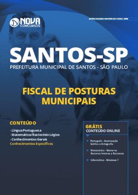 Apostila Concurso Prefeitura de Santos 2020 Grátis Cursos Online da Editora Nova Concursos