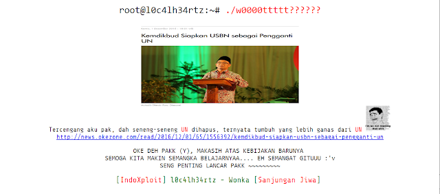 Tercengang UN dihapus dan digantikan USBN, Hacker ini Retas Kemdikbud !