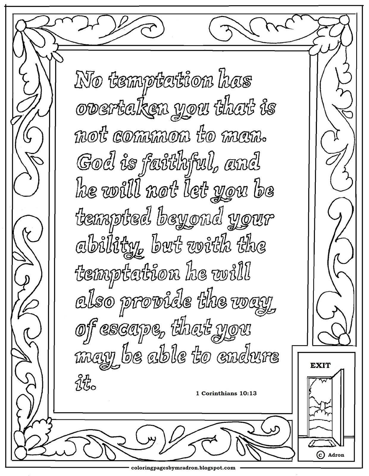 1 Corinthians 1013 Print And Color Page