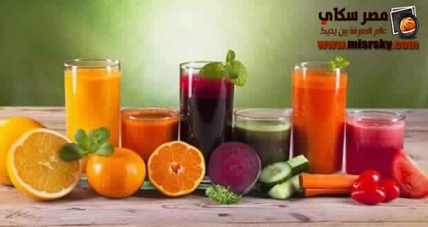 طريقة تحضير 4 طرق من عصير الفواكه لشهر رمضان