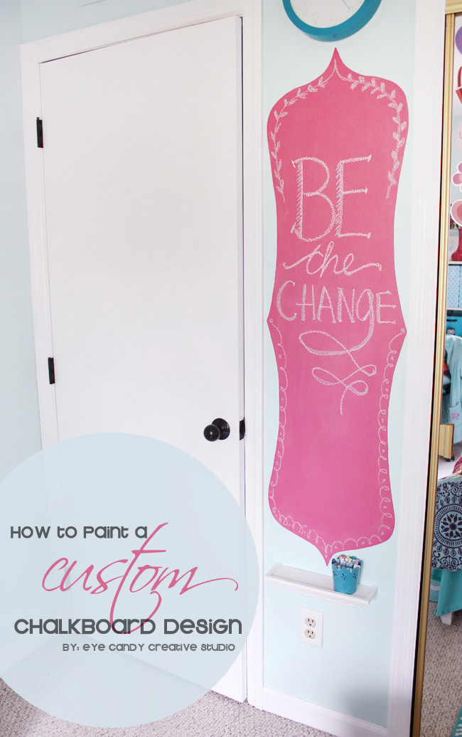 how to paint a custom chalkboard design, tween girls bedroom decor
