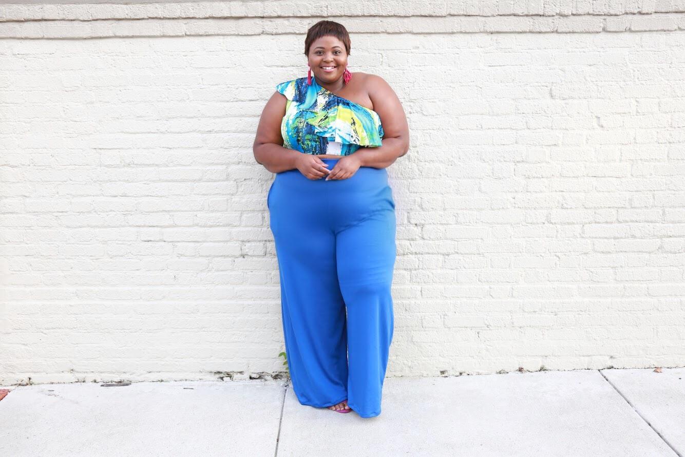 Christian Omeshun Simply Curvee Dana Wide Leg Blogger