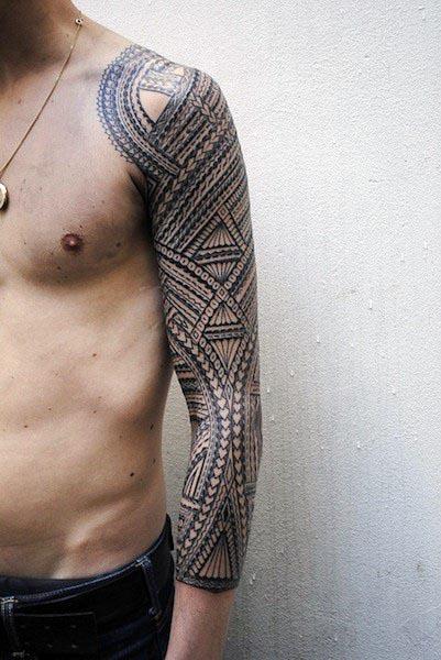 75 Modern Tribal Tattoos For Guys 2019 Tatuaje Tribale