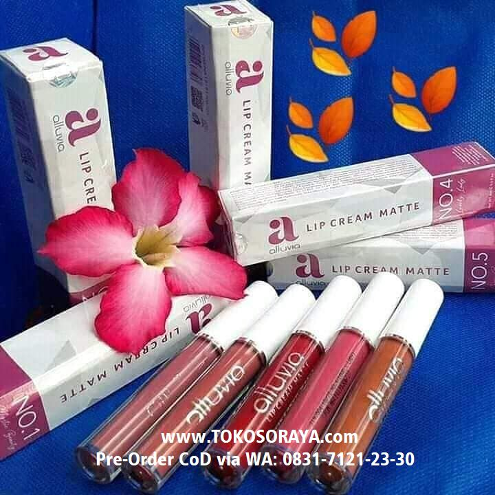 photo produk alluvia Lip Cream Matte Make Up Kosmetik Bibir
