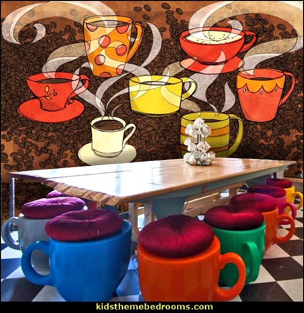 coffee cafe furniture tea cup coffee cup furniture  coffee theme decor - coffee themed decorating ideas - coffee themed kitchen decorations - coffee cup theme in the kitchen - coffee kitchen decor - coffee wall decal stickers - coffee cafe decor - coffee wallpaper murals - Barista tools  coffee cafe