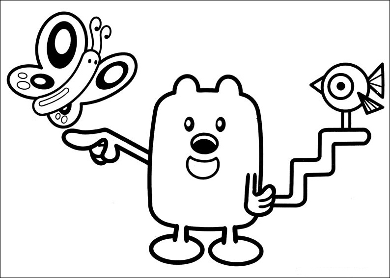 wow wow wubbzy coloring pages # 10