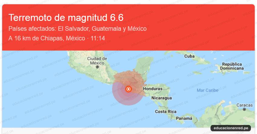 Potente sismo de Magnitud 6.5 afectó a países de El Salvador, Guatemala y México [EN VIVO]