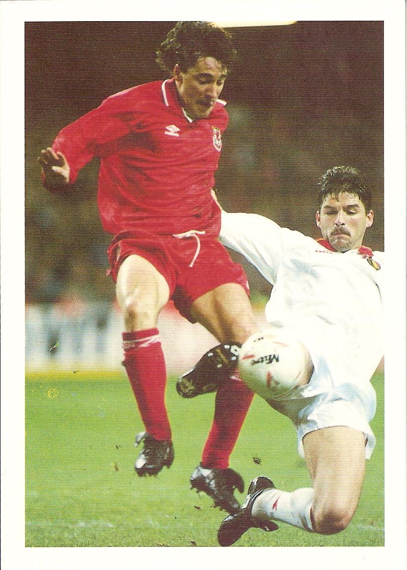 1993-94 Bassett /& Co World Beaters Italy Postcard Roberto Baggio