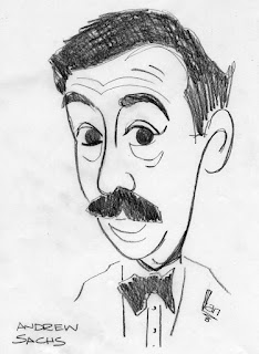 Andrew Sachs caricature by Ian Davy Brown