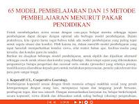 65 Model Pembelajaran Guru di Sekolah