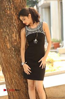 Actress Poojitha Pallavi Naidu Stills in Black Short Dress at Inkenti Nuvve Cheppu Movie Platinum Disc Function  0048.JPG