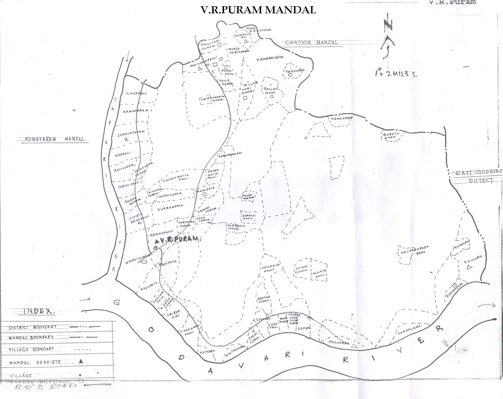 sub collector's office, bhadrachalam v.r.puram mandal map