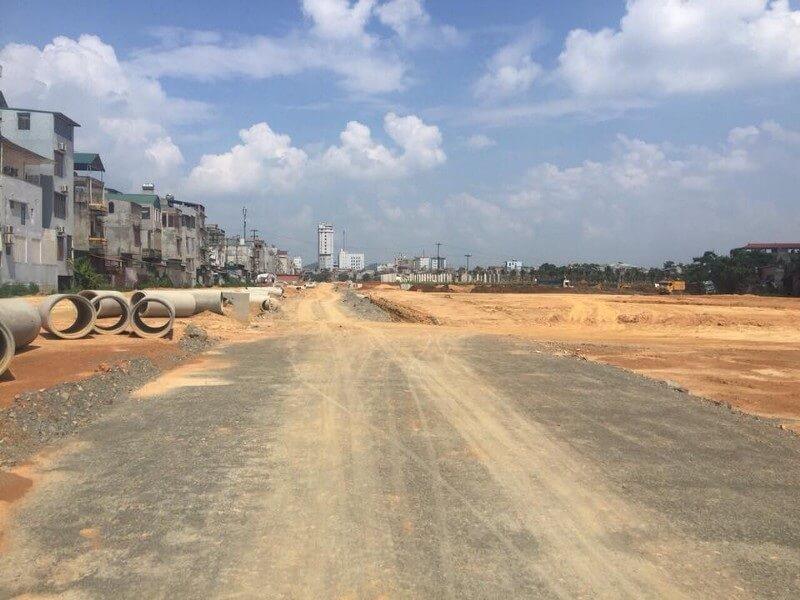 Đường xá tại Việt Mỹ Villas.