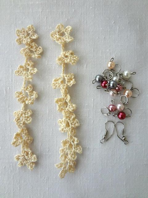 Little Treasures Flower Crochet Earrings Free Pattern