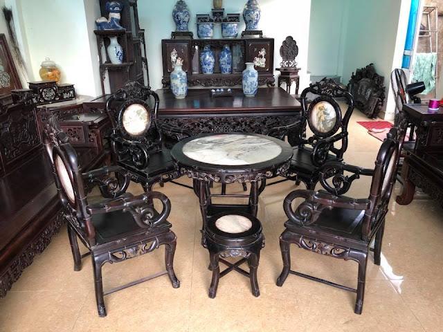 Bộ bàn ghế trúc